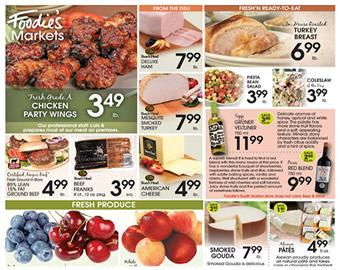 Foodies Markets Weekly Sales